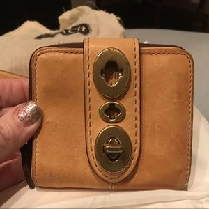 RARE Coach Legacy Camel Turnlock Wallet